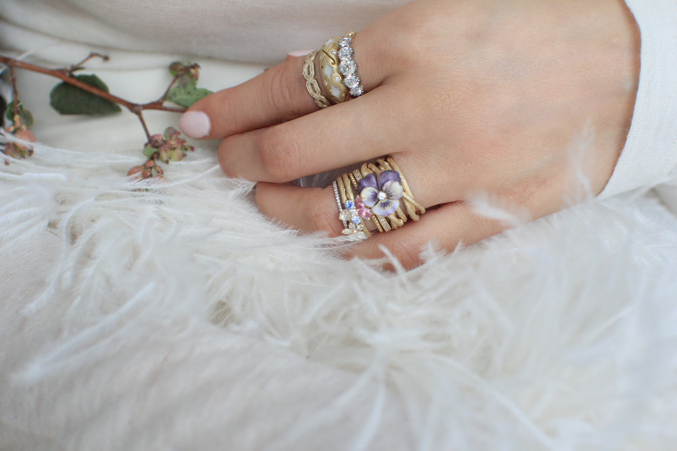 Nature Inspired Bohemian Stacking and Wedding Rings
