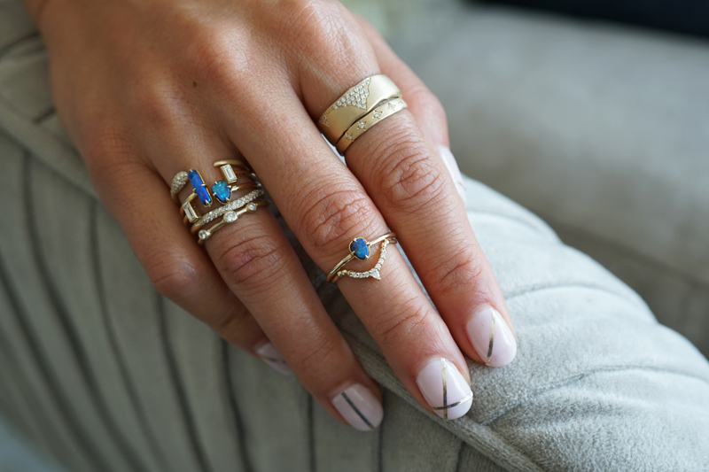 70680928df4010 Our limited edition collection, Oceana Luxe features Australian Boulder  opals in shade of azure blue, sea foam green and splashes of crimson red  sunsets to ...