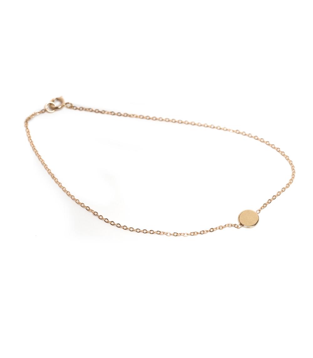 Infinity Disc Charm Bracelet