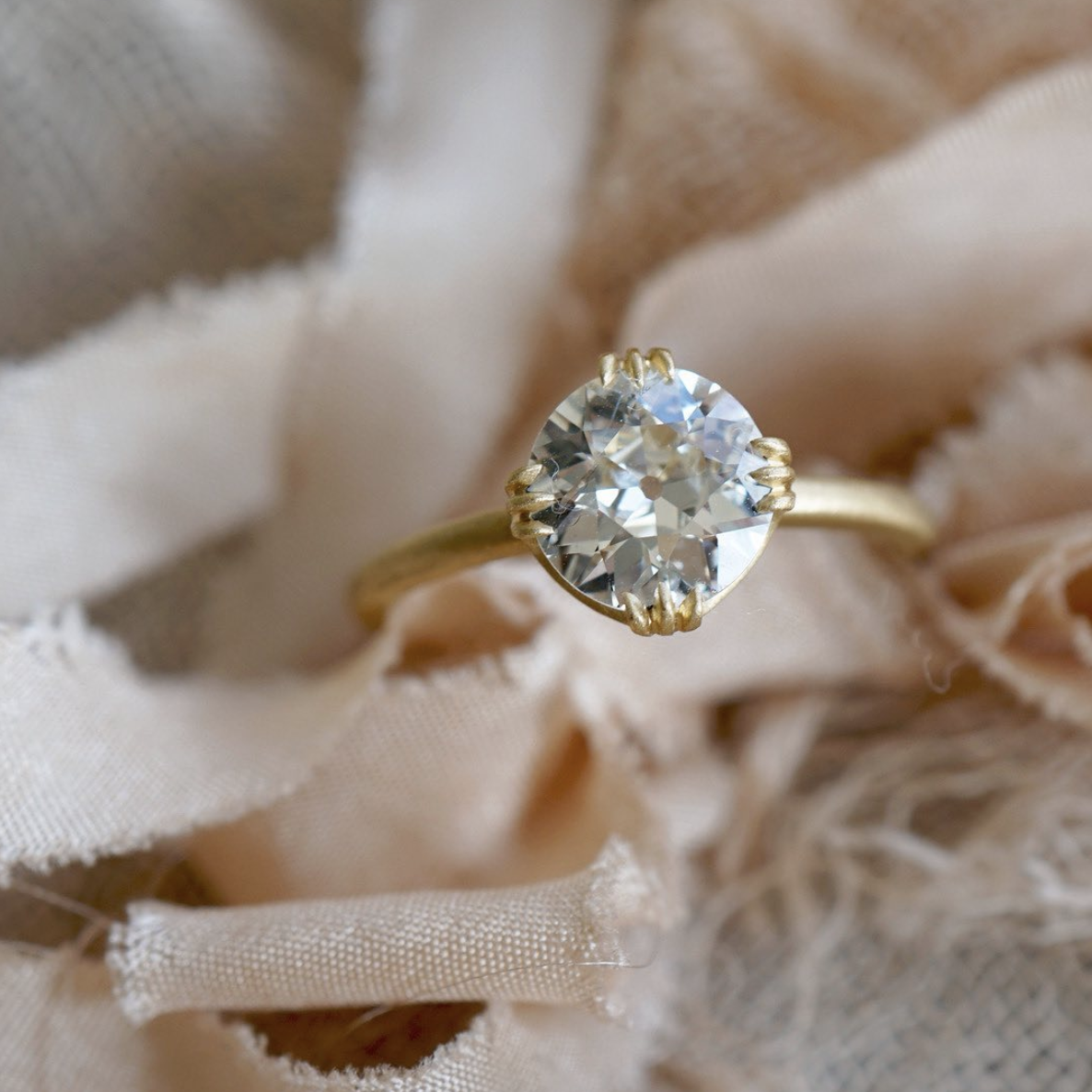 old european cut diamond engagement rings